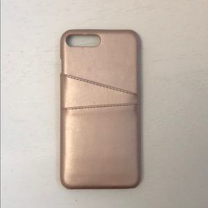 Accessories - iPhone 7 plus card holder case in rose gold
